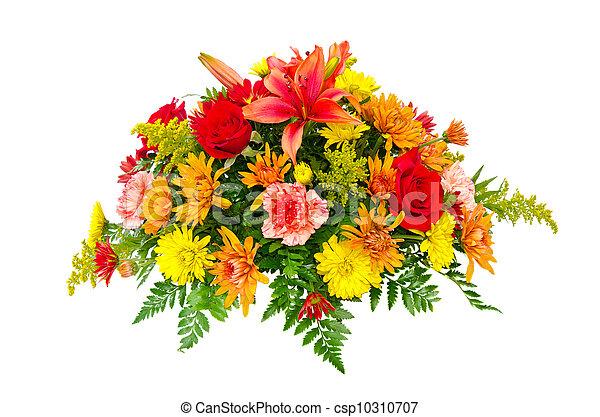 bouquet, fleur, coloré, arrangement - csp10310707