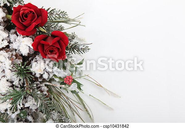 bouquet, fleurs, hiver - csp10431842