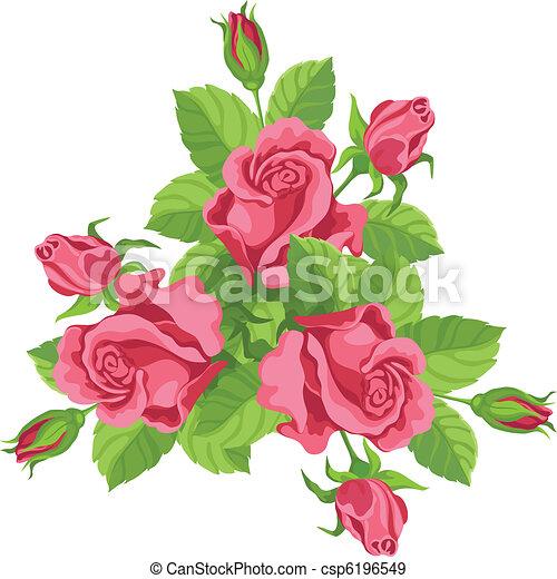 bouquet, rigolote, roses - csp6196549