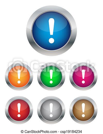 boutons, avertissement - csp19184234