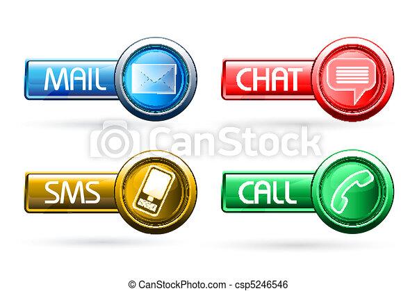 boutons, communication - csp5246546