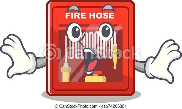 brûler, dessin animé, forme, cabinet, tuyau, surpris - csp74206381