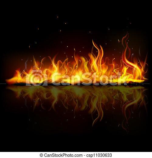 brûler, flamme, brûlé - csp11030633