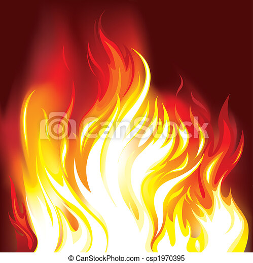 brûler, flammes, fond - csp1970395
