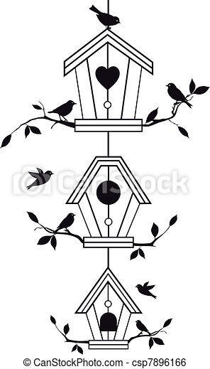 branches, birdhouses, arbre - csp7896166