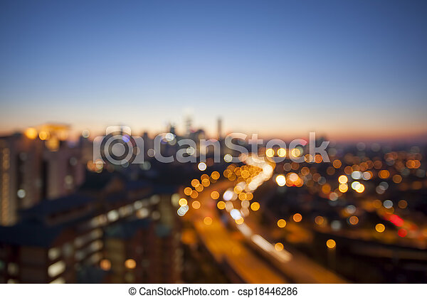 brouillé, horizon, lumpur, fond, autoroute, kuala - csp18446286