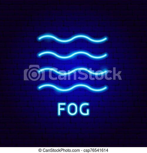 brouillard, étiquette, néon - csp76541614