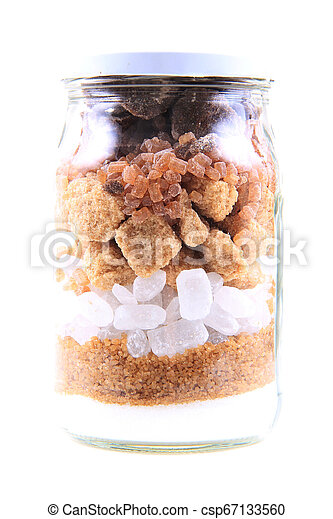 brun, blanc, verre, sucre - csp67133560