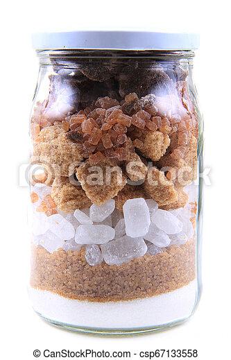 brun, blanc, verre, sucre - csp67133558