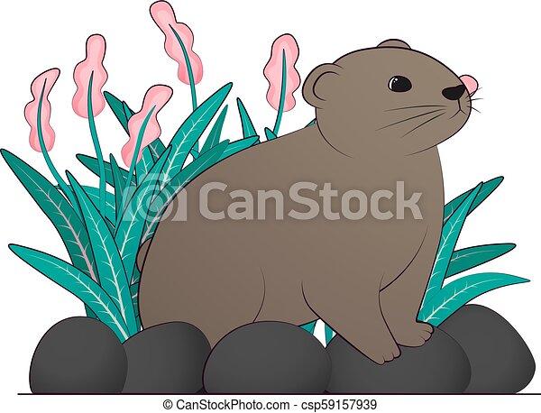 brun, illustration, lemming - csp59157939