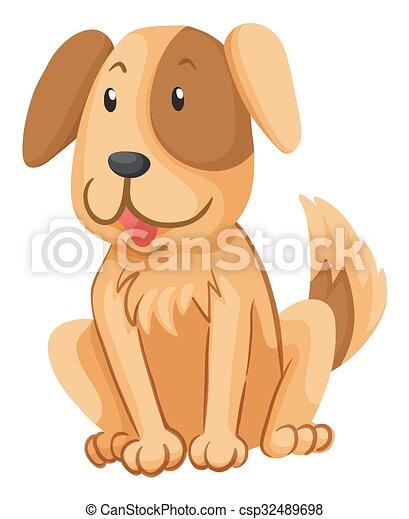 brun, peu, fourrure, chien - csp32489698