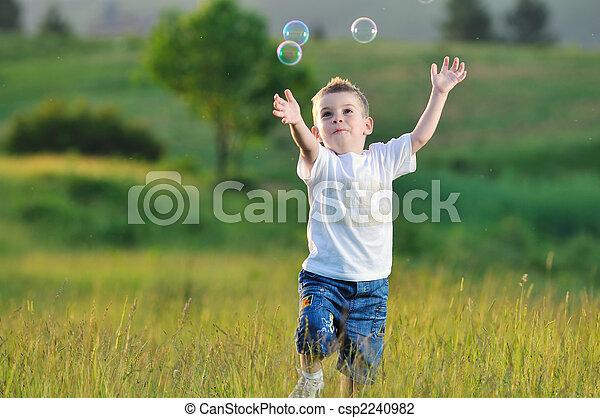 bulle, enfant - csp2240982