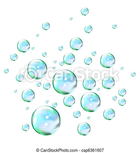 bulles, savon - csp6361607