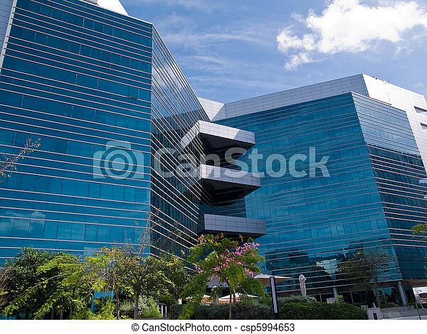 bureau, constitué, bâtiment moderne - csp5994653