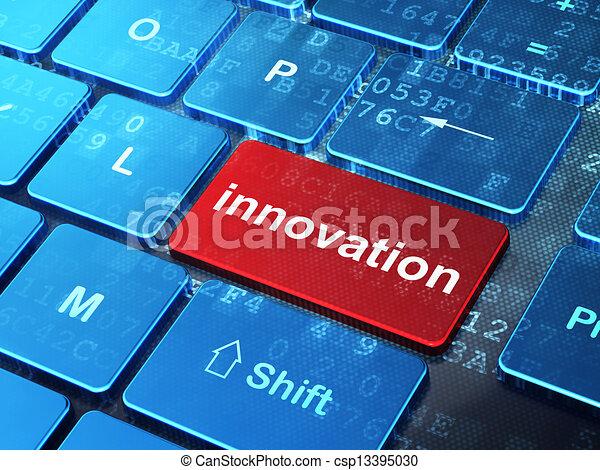 business, innovation, informatique, fond, clavier, concept: - csp13395030