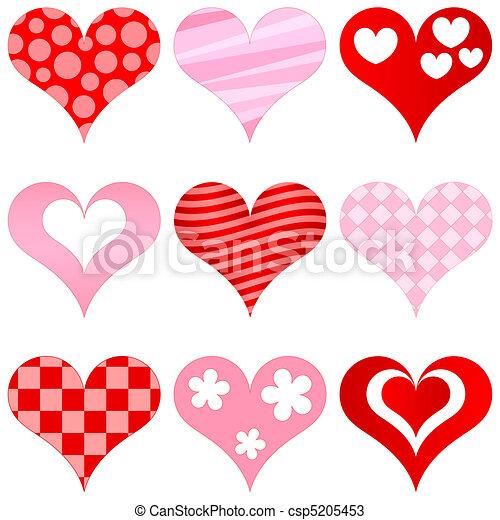 cœurs, ensemble - csp5205453