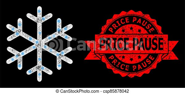 cachet, coût, pause, clair, lightspots, réseau, flocon de neige, grunge, polygonal - csp85878042