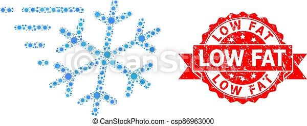 cachet, coronavirus, bas, mosaïque, détresse, gelée, vent, graisse - csp86963000