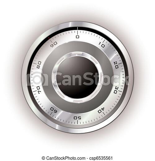 cadran, sûr, blanc - csp6535561