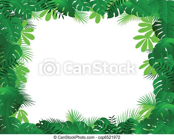 cadre, forêt - csp6521972