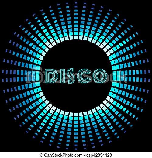 cadre, soundwave, retro, fond, disco - csp42854428