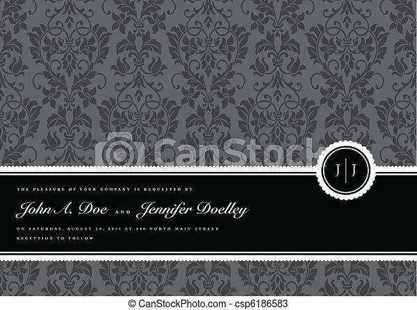 cadre, vecteur, ruban, fond - csp6186583