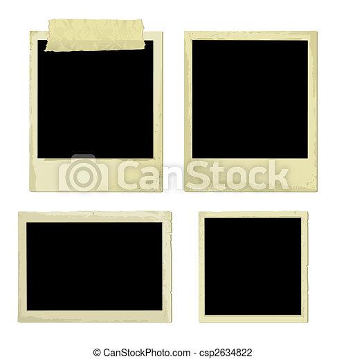 cadres, photo, vieux, (vector) - csp2634822