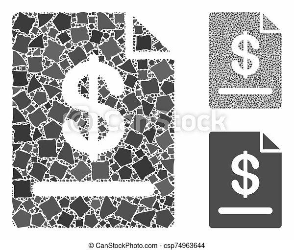 cahoteux, icône, mosaïque, morceaux, facture - csp74963644