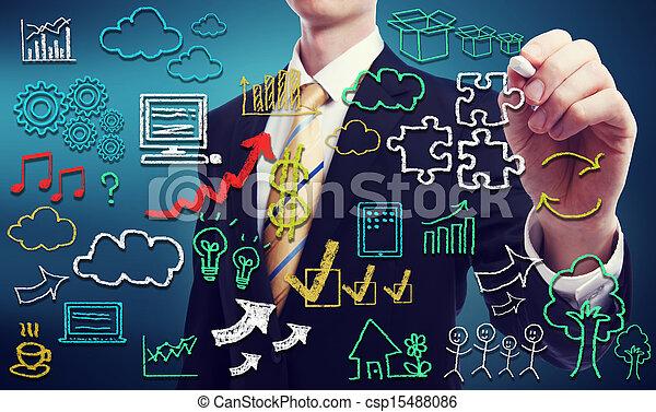 calculer, nuage, par, connectivité, concept - csp15488086