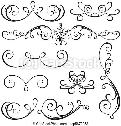 calligraphic, éléments - csp5673083