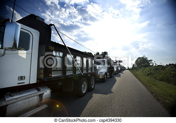 camions décharge - csp4394330