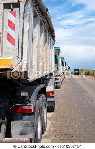 camions décharge - csp10307154