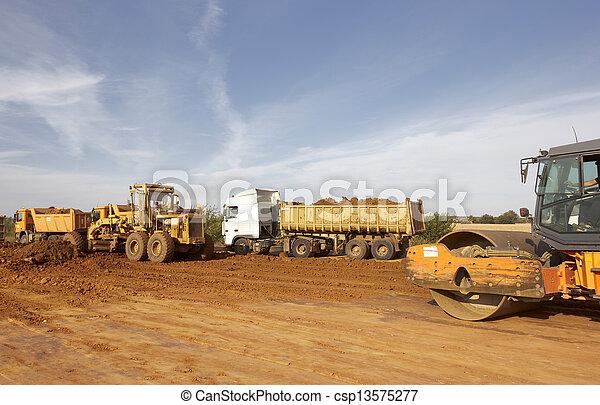 camions décharge, tracteurs - csp13575277