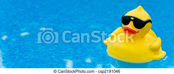 caoutchouc, bleu, canard - csp2191046