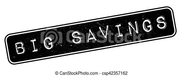 caoutchouc, grandes économies, timbre - csp42357162