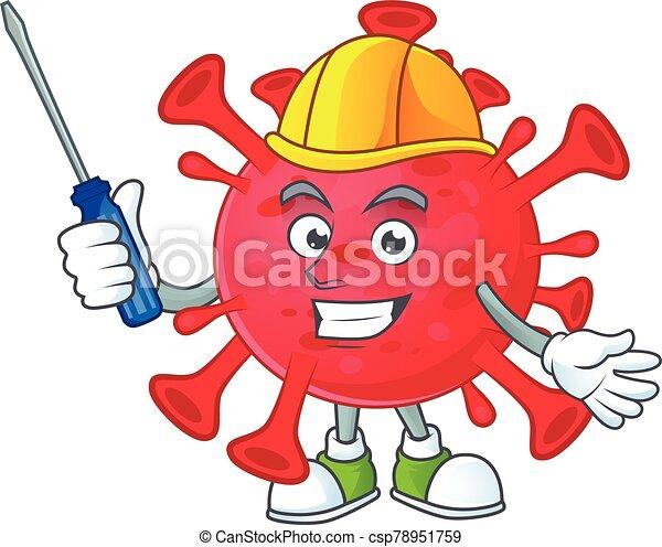 caractère, amibe, frais, automobile, coronavirus, dessin animé - csp78951759