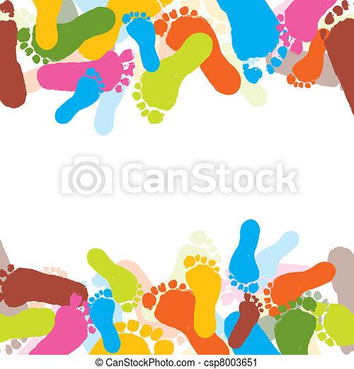 caractères, vecteur, enfant, foots - csp8003651