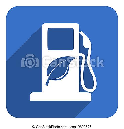 carburant, bio, icône - csp19622676