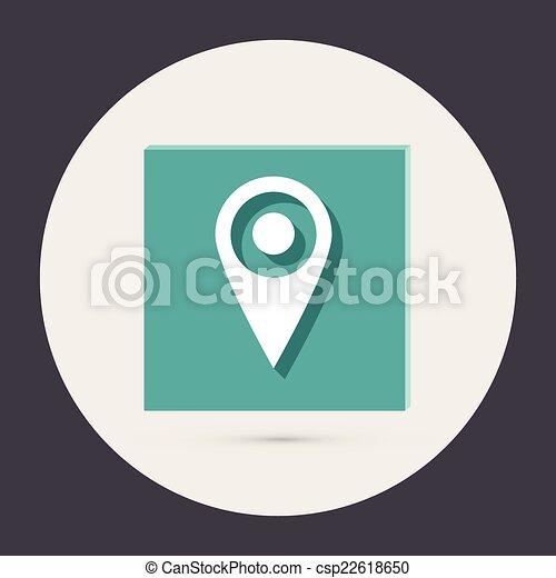 carte, emplacement, épingle - csp22618650