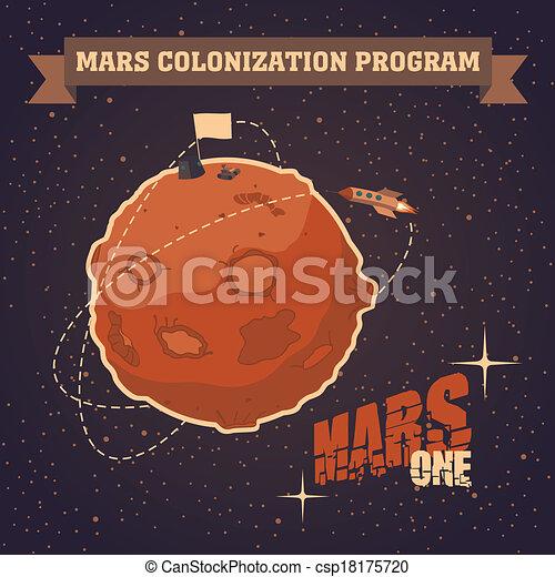 carte postale, vendange, mars, projet, colonisation - csp18175720