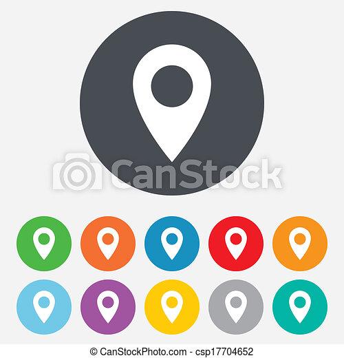 carte, symbole., emplacement, icon., indicateur, gps - csp17704652