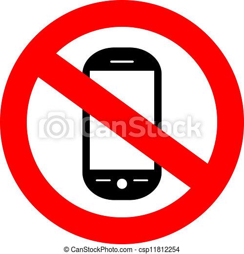 cellphone, non, signe - csp11812254