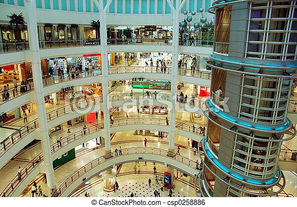 centre commercial, achats - csp0258886