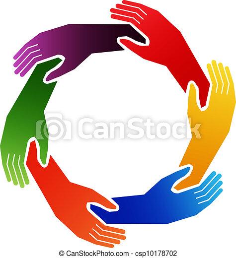 cercle, mains - csp10178702