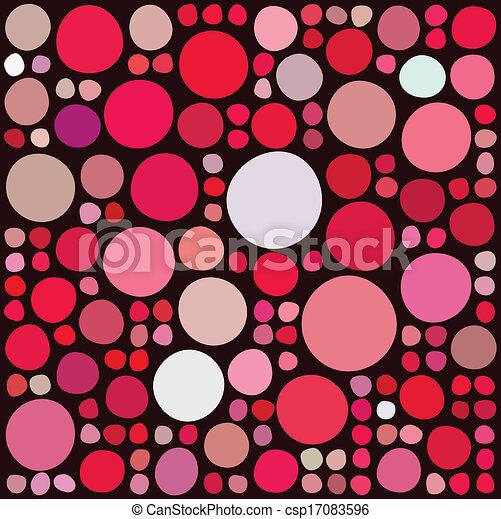 cercles, modèle, aléatoire - csp17083596