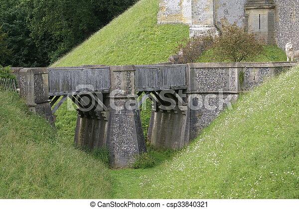 château, pont, arundel, angleterre - csp33840321