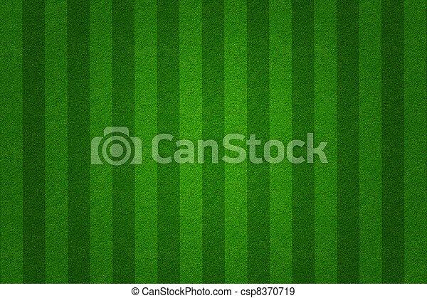 champ, fond, vert, football, herbe - csp8370719