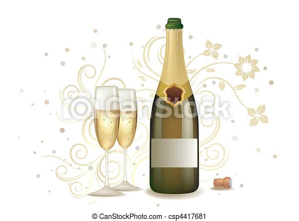 champagne, célébration - csp4417681