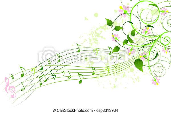 chanson, printemps, fond - csp3313984