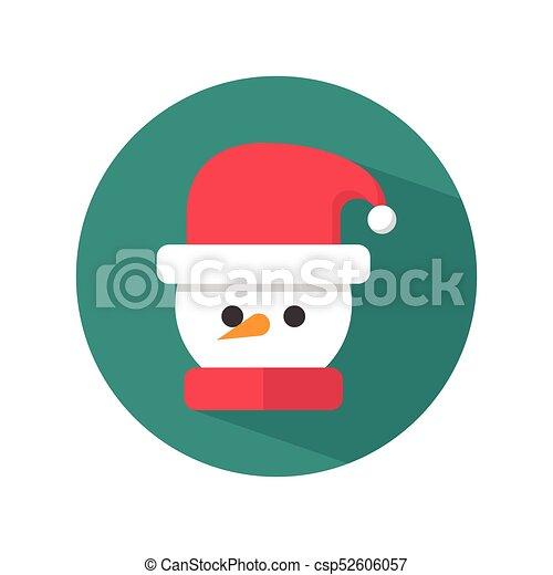 chapeau bonhomme neige, santa - csp52606057